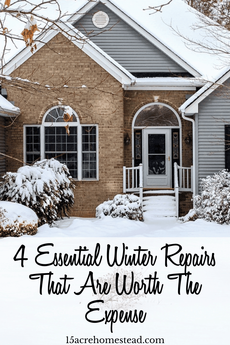 These four essential winter repair improvements have positive consequences on your household budget and health. In other words, if you've been saving to make your home a better place before Christmas, these are the top four things you need to consider to have a cozy and healthy winter.