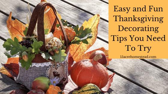 Thanksgiving Decorating Tips