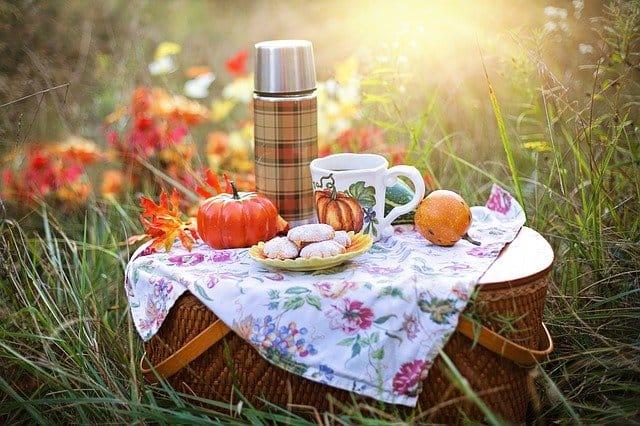 Fall picnic basket