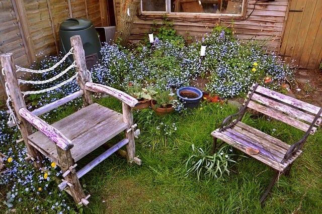 decluttered backyard