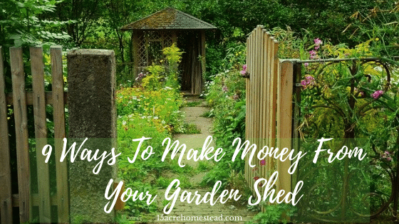 make money from a garden shed featured image
