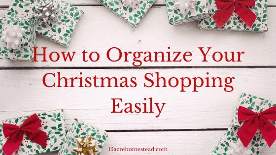 Organize Your Christmas Shopping