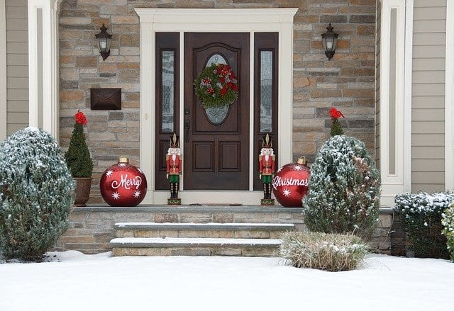 The exterior of the house can be decorated for Christmas also.