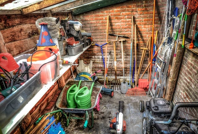 make money from your garden shed selling and renting tools.