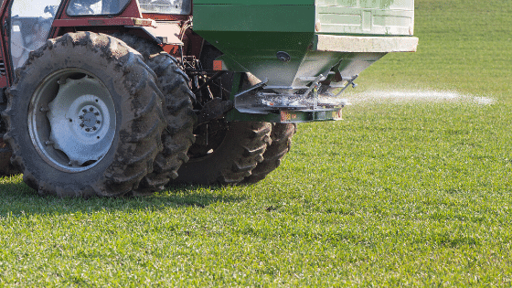 Fertilizing is important to keep your lawn healthy.