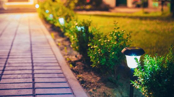 solar led lights in the garden