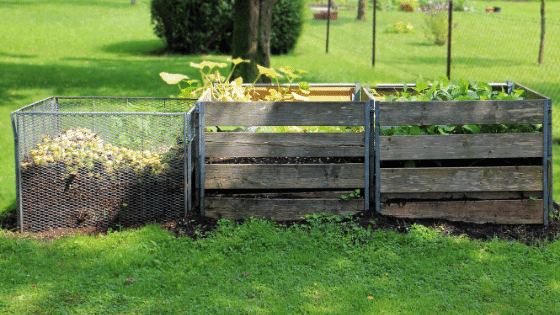 A typical compost bin