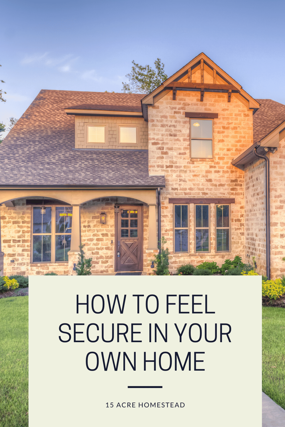 Feeling secure in your own home is very important. These tips can help you to do so.
