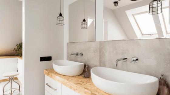 upgraded sinks in bathroom