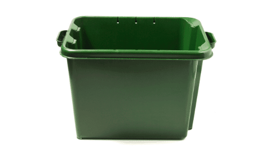 A bin typically used for vermicomposting