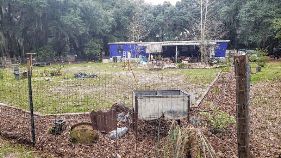 fence around future edible garden