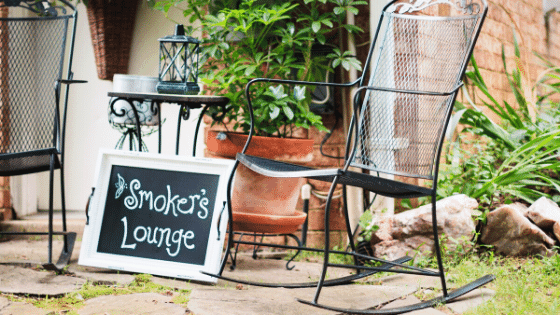 Another great way to add interest to your design is by using indoor furniture outdoors.