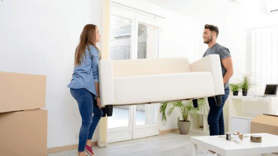Moving furniture.