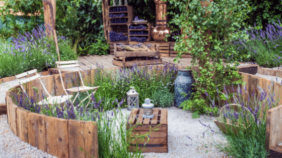 Another seating area for the garden