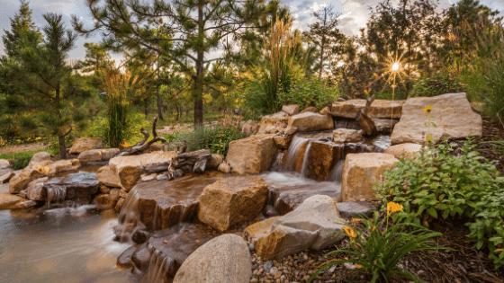 a garden water feature
