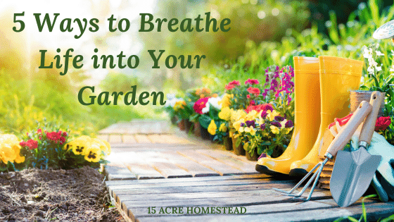 breathe life in your garden