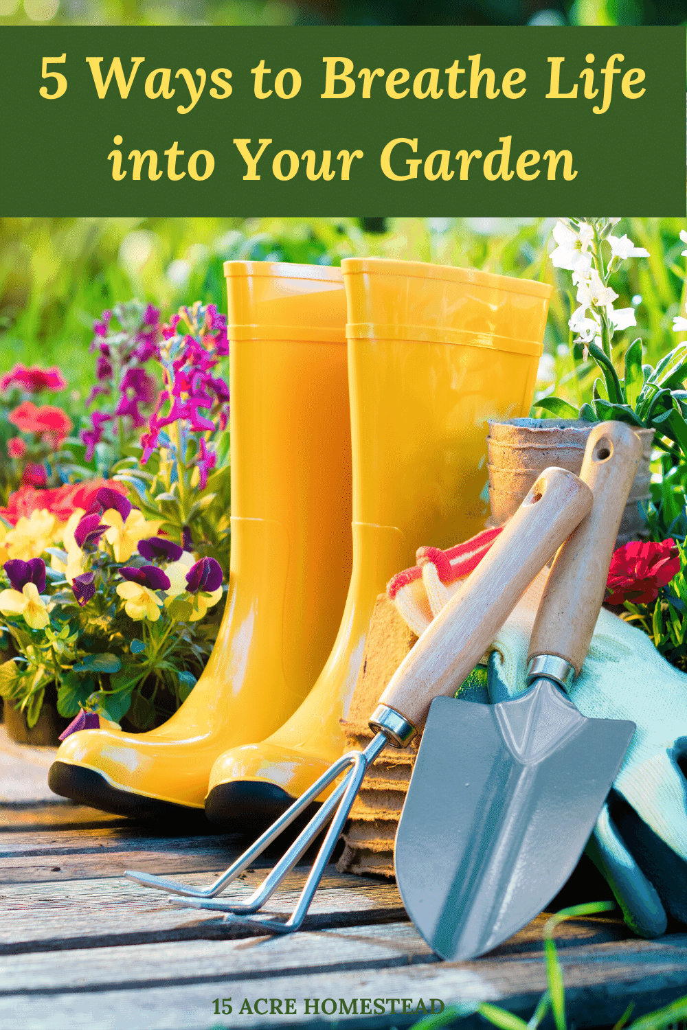 Breath some new life in your garden following the tips in this post and turn your garden into the garden of your dreams.
