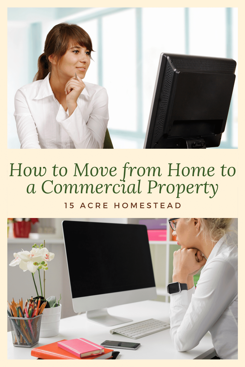 Use these tips to make the move from working at home to a commercial office smoother.