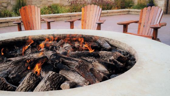 a fire pit.