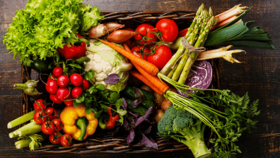 vegetable baskets are good to share during self-isolation