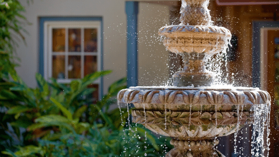 A water feature willl breathe life in your garden.
