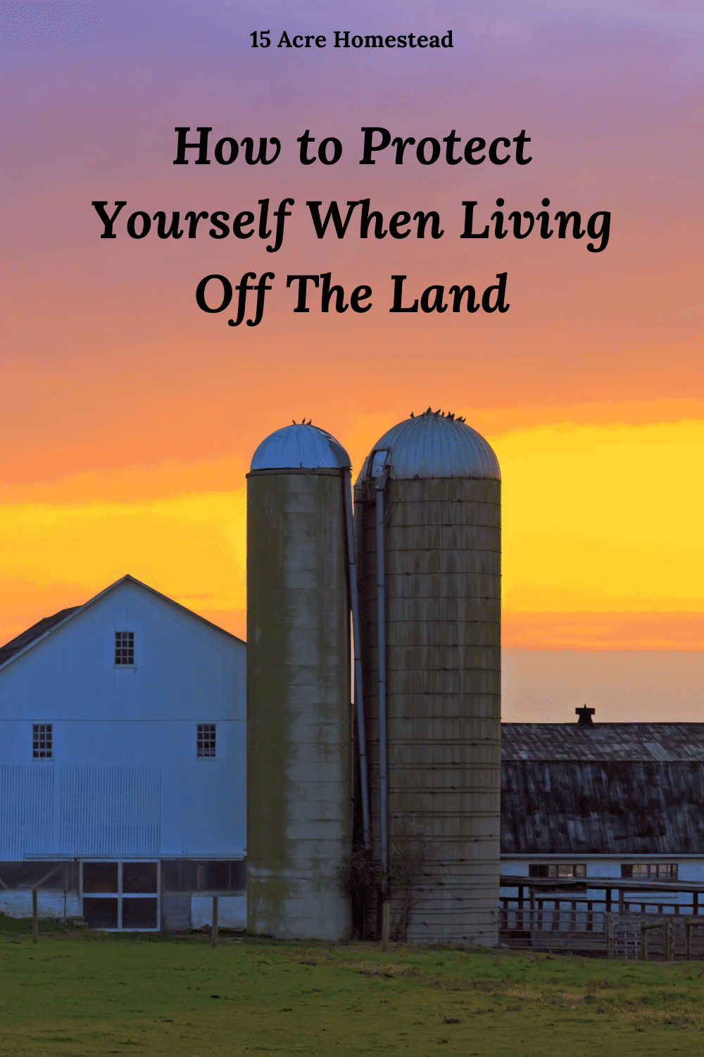 There are many ways to protect yourself when living off the land Here are some cool tips.