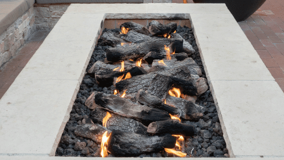 A back patio can have a permanent fire pit or a moveable one.