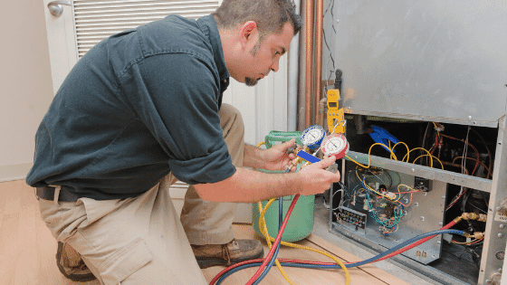 HVAC repairs can be made by a professional