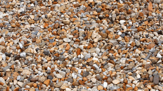 Pea gravel can be used as the floor of the back patio.