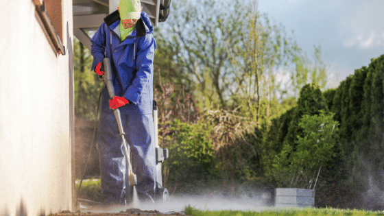 Pressure washing is one way of taking care of your exteriors in Spring.