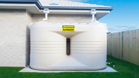 Rain water tanks help the environment by not wasting water.
