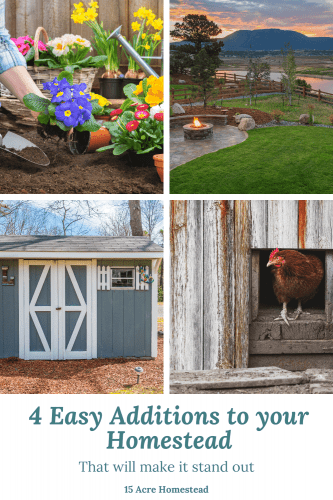 There is always room for improvement on your homestead. These 4 projects can make your homestead a true DIY dream homestead.