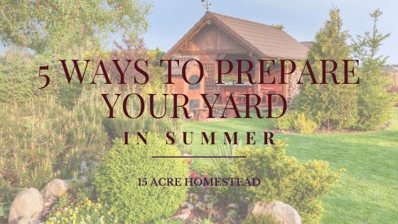 prepare your yard