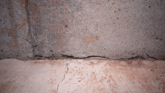 Foundation issues where the floor meets the wall