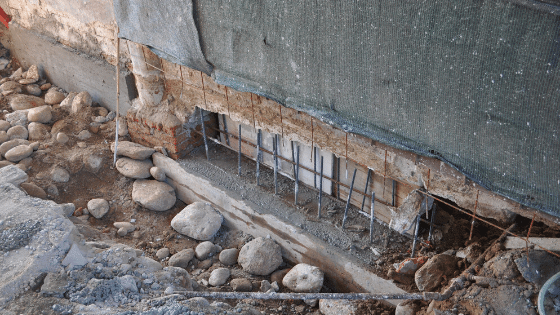 Unsightly foundation damage