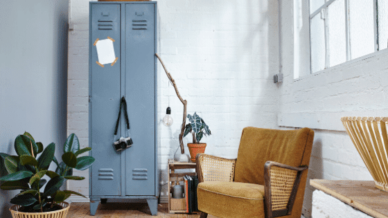 A locker is a unique piece of furniture.