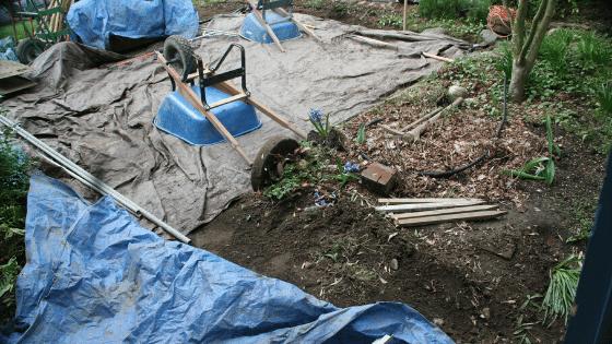 preparing new gardening beds for summer