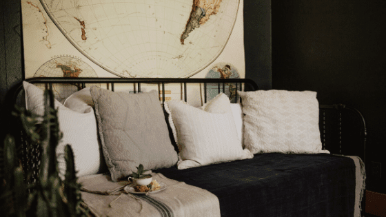 A sofa cover makes a more comfortable space and amakes for successful rentals