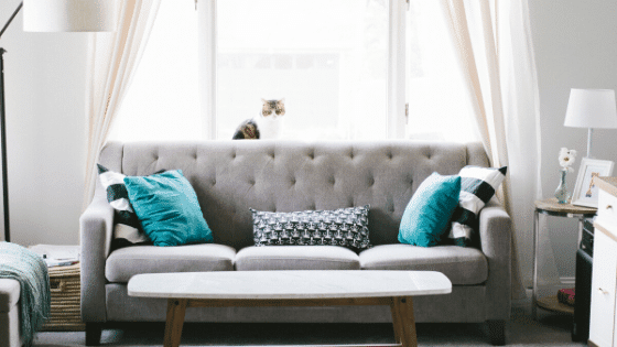 One of the best home decorating tips is to use a large comfortable sofa.