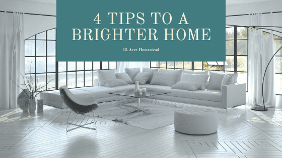 Feeling like your house is dark and dinghy? Use these simple tips to make a brighter home right now!
