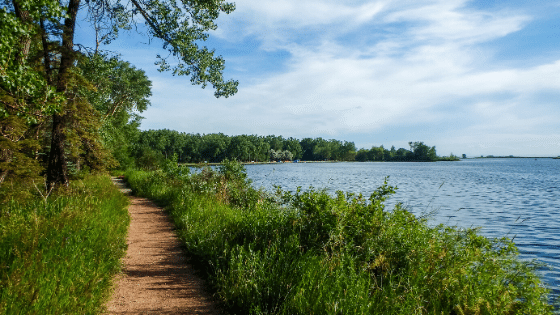 A clear and safe path around the lake
