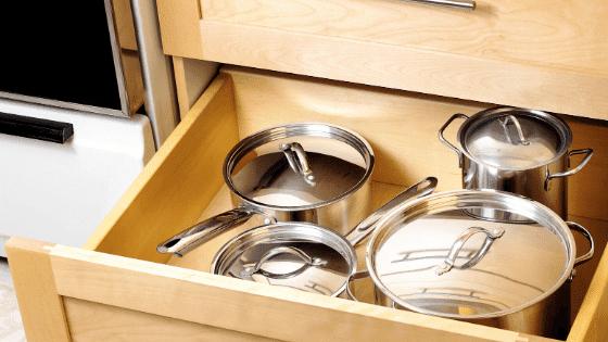 An organized kitchen drawer