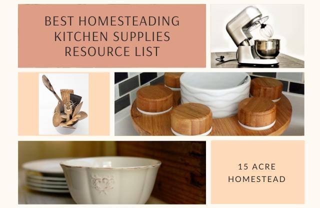 homesteading kitchen supplies