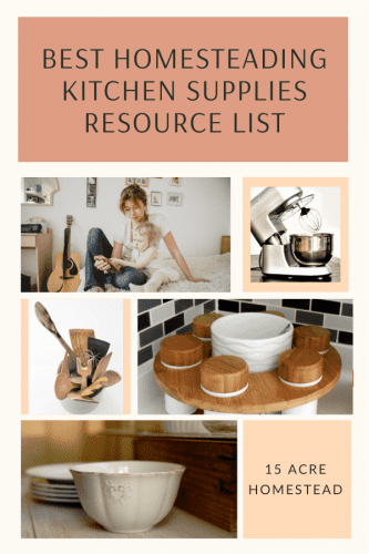 Look no further than this list with links to the best homesteading kitchen supplies!