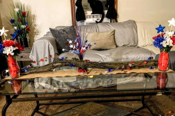 Coffee Table patriotic decor