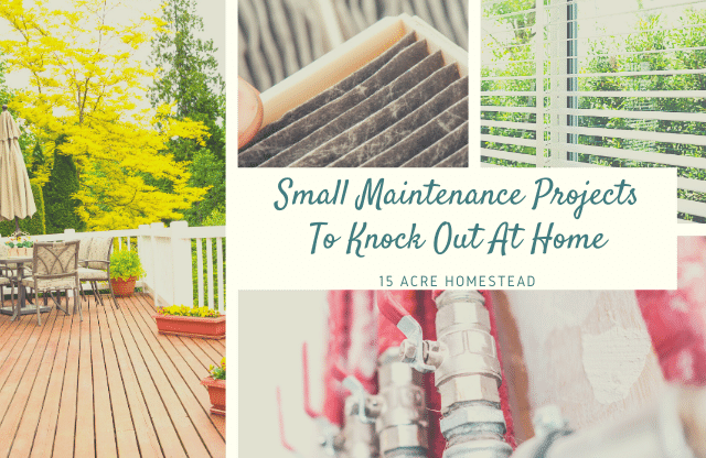 Check out these small maintenance projects you can do before summer around your home.