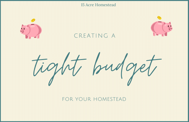 Creating a tight budget is no easy task. Learn how to create a tight budget for your homestead and how to stick with it in order to be successful.