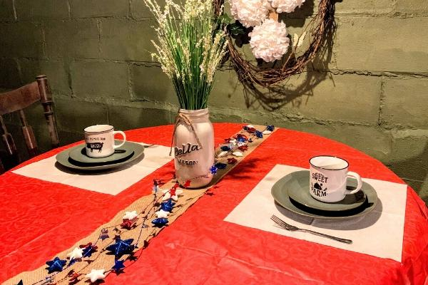 Dining Table Patriotic Decor