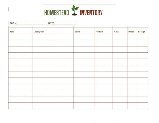 Homestead Inventory