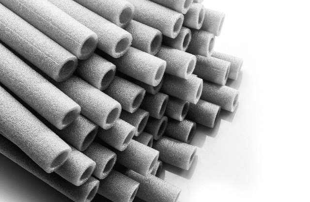Soft insulation sleeves ready for insulating pipes